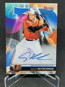 ADLEY RUTSCHMAN 2020 BOWMANS BEST Prospect On Card Auto Blue #62/150 ORIOLES