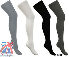 Womens Over Knee Long Casual Ladies Thigh High Plain Cotton Overknee Socks S006
