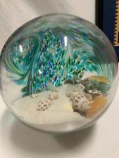 """HQT Handmade Home Design Glass Swirl LARGE Ball Shells Sand Blown Glass 24"""""""