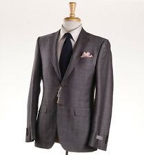 NWT $2195 CANALI 1934 Light Brown Subtle Patterned Wool Suit Slim 38 R (Eu 48)