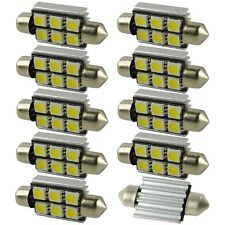 10X 6 SMD Festoon LED 42mm 5050 CANBUS Bulb Dome Lamp Interior Light NO Error