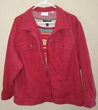 ELISABETH Plus Size 2 or 3X Gently Worn Womens Red Denim Jacket