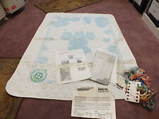 Janlynn Crib Quilt Needlepoint Kit Partially Done Openend Puppy Kitten Buttons