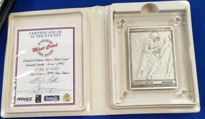 Emmitt Smith 4.25 ozt .999 Fine Silver Bar COA Box