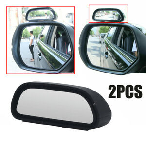 2x Adjustable Blind Spot Wide Angle Mirror Rear View Car Side Mirror Universal