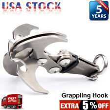 Outdoor Foldable Gravity Hook Climbing Adventure 4 Claw Survival Carabiner Tool