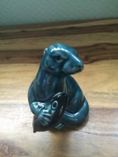 LOVELY POOLE POTTERY SEAL WITH FISH FIGURINE IN EXCELLENT CONDITION