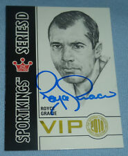 Royce Gracie Signed UFC 2010 Sportkings National VIP Promo Card Autograph 1 2 4