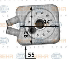 Hella Oil Cooler, Engine 8MO 376 726-221 Behr Service Audi Ford Seat VW