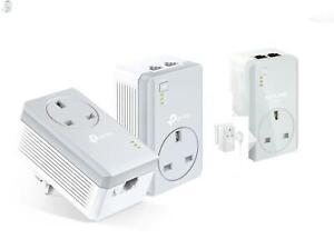 TP-Link AV600 TL-PA4022P 2-Ports Passthrough Powerline Gaming TV Plug X 3 UK