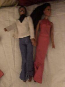 "Vintage Mego Sonny and Cher 12"" Dolls in Original Clothes 1975-76"