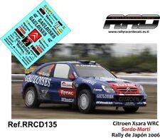 DECAL/CALCA 1/43; Citroen Xsara WRC; Sordo-Marti; Rally de Japon 2006