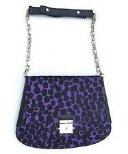 MICHAEL KORS COLLECTION Mia Purple Leopard Calf Hair Envelope Shoulder Bag KEY