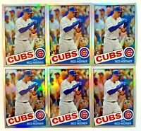 (6) NICO HOERNER 2020 Topps Chrome 35th Anniversary Refractor #85TC-12 Card LOT