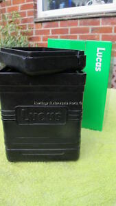 LUCAS black flexible rubber BATTERY BOX authentic BSA TRIUMPH NORTON AJS ARIEL