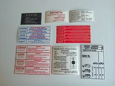 Dangel 4X4 505 Estate Peugeot Warning advice engine Bay Stickers Set 1980