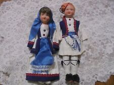 New ListingVintage, Ethnic Dolls, pair, beautiful, cultural, colorful