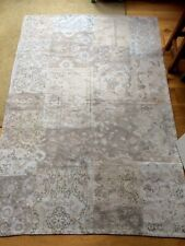 Laura Ashley LAURENT Jacquard RUG ~ PATCHWORK Floral Toile 140 x 200cm Dove Grey