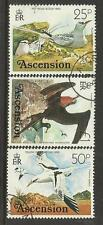 ASCENSION 1976 BIRDS DEFINITIVES 25p 50p £1 FRIGATE BIRD 3V FINE USED