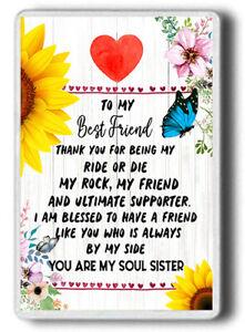 Best Friend gift , Soul Sisters, Friendship gift, FRIDGE MAGNET JUMBO SIZE