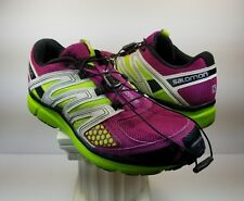 Salomon X Mission 2 Women's Purple/Grey/Green Running Shoes - Size 8.5