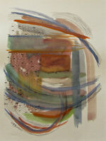 "Mixed Media Painting ORIGINAL Abstract by Kadi Love Keener 12X9"" ~~NOT A PRINT~~"