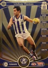 2014 afl TEAMCOACH GOLD NORTH MELBOURNE LINDSAY THOMAS #161 CARD FREE POST