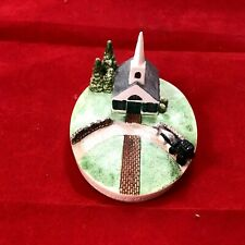 """Sebastian Miniatures """"Country Church� 1984 ~ With Horse & Buggy"""