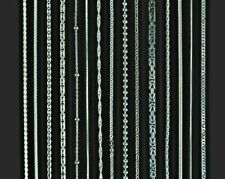 Echt 925 Sterling Silberketten Panzerkette Ankerkette Schlangenkette Königskette