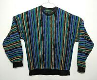 TUNDRA Mens Size Large Canada COOGI Style Multi-Colored Cosby 90s Vintage