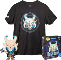 Ragnarok Glow GITD Fortnite Funko Pop Vinyl + T-shirt New Sealed Box Set
