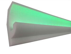 10 Meter+4 Innenecken LED  Weiß Stuckleiste für indirekte Beleuchtung  OL-16A