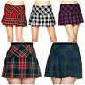 Hell Bunny Scottish Plaid Tartan Check Emo Punk Sexy Short Mini Skirt Kilt