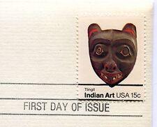Indian Art, Tlingit-1st day issue-Golden Replica