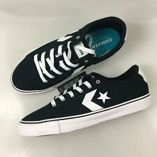 Converse All Star Replay Ox Shoes Low Black White Mens Size 10.5-11 163214F