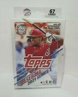 2021 Topps MLB Baseball Series 1 HANGER BOX 67 Cards Factory Sealed 🔥