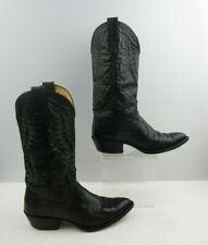 Men's Nocona Black Leather Western Cowboy Boots Size : 7.5 D