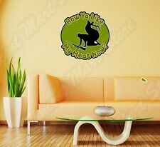 "Deer Hunting Hunter Meat Rifles Funny Wall Sticker Room Interior Decor 22""X22"""