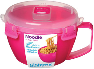 Sistema Microwave Noodle Bowl, 4 Cup , Assorted