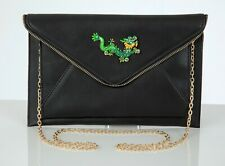 Butler & Wilson Envelope Shape Chinese Dragon Bag Green Crystal Enamel Dragon