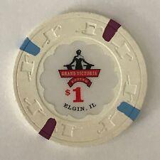 New listing Grand Victoria $1 Casino Chip Elgin Illinois Riverboat