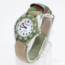Popular Fashion Fabric Strap Kids Boy Girls Learn Time Quartz Wristwatch U32