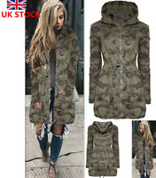 Women Camouflage Elastic Waist Coat Ladies Tech Outdoor Jacket Long Sleeve Tops