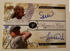 2019 UD National Tiger Woods Serena Williams Prominent Cuts Dual Auto SP /5 HOT!