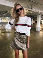 Ladies Womens Girls Tops Casual Long Sleeve Pullover Jumper Shirt Fashion Sweats