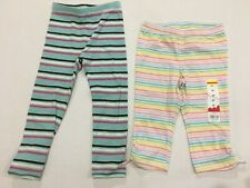 New jumpng beans rainbow Girls Leggings Size 3 3T gap striped 2-3 worn