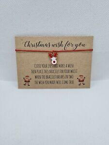Christmas Wish Bracelet, reindeer, stocking fillers, secret santa, Rudolf