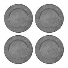 """Rustic Metal Charger Plates 13"""" Set of 4"""