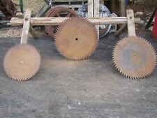 Old Large Buzz Saw Blades Sawbuck Hit Miss Gas Engine Steam Tractor Magneto Nice