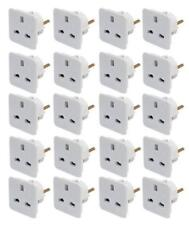5x UK to EU European Countries Travel Adaptor Power Plug Converter 3 to 2 Pin